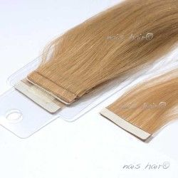 Tape Hair Extensions Wavy # 16 (Golden Blonde)