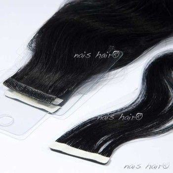 Tape Hair Extensions Wavy #1 (Jet Black)
