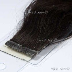 Tape Hair Extensions Wavy #1B (Off Black)