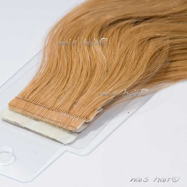 Tape Hair Extensions Wavy 27strawberry Blonde 20 Inch