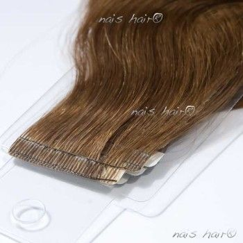 Tape Hair Extensions Wavy #6 (Medium Brown)