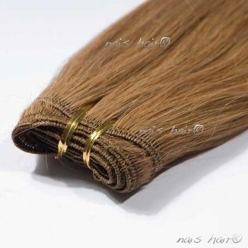 Hair Weft Extensions #12 (Light Golden Brown)