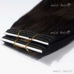Hair Weft Extensions #1B (Off Black) 24 Inch