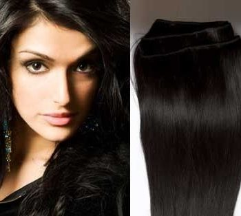Weft hair extensions 1b off black 24 inch weft hair extensions pmusecretfo Image collections