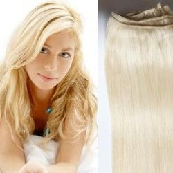 Hair Weft Extensions #613 (Bleach Blonde) 24 Inch