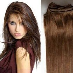 Hair Weft Extensions #6 (Medium Brown) 24 Inch