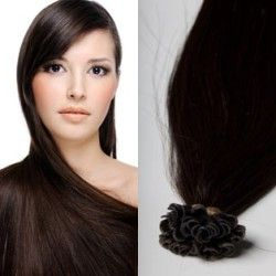 Keratin Hair Extensions #2 (Darkest Brown)