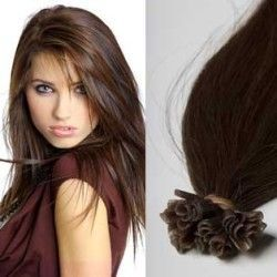 Keratin Hair Extensions #6 (Medium Brown)
