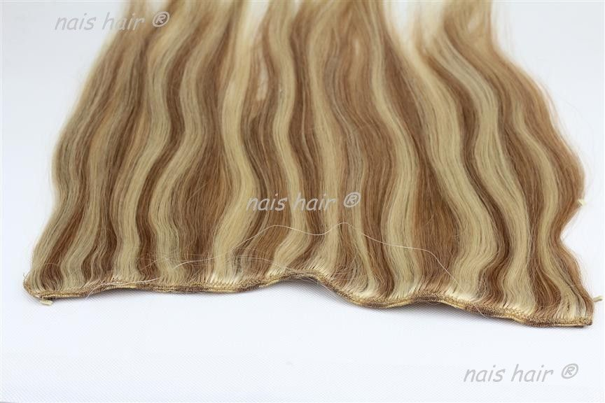 100 remy human wavy fish wire hair extension 50 cm 12 colors. Black Bedroom Furniture Sets. Home Design Ideas